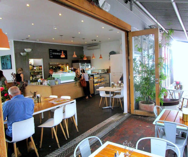 Patrons dining at 63 Degrees Geelong cafe.