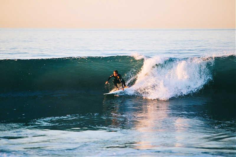 Surfer at Bells Beach Australia