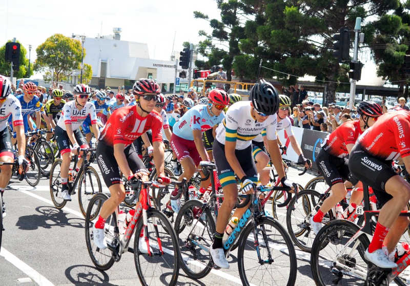 Cyclists at the Cadel Evans Great Ocean Road Race