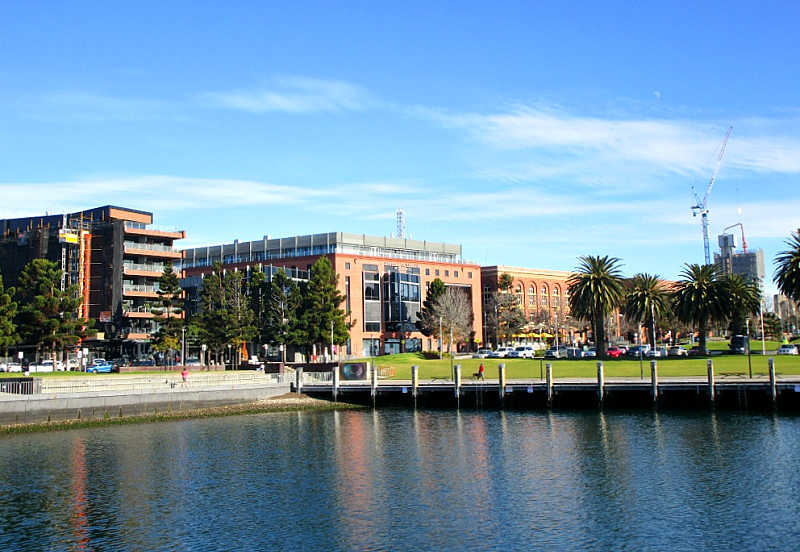 Geelong Waterfront with Deakin University.