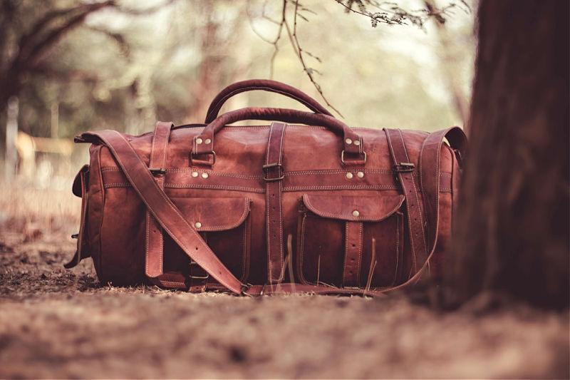 Beautiful leather duffle bag Australia brand.
