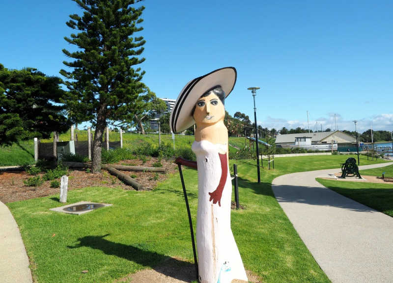 Photo of Geelong Baywalk bollard Carrie Moore.