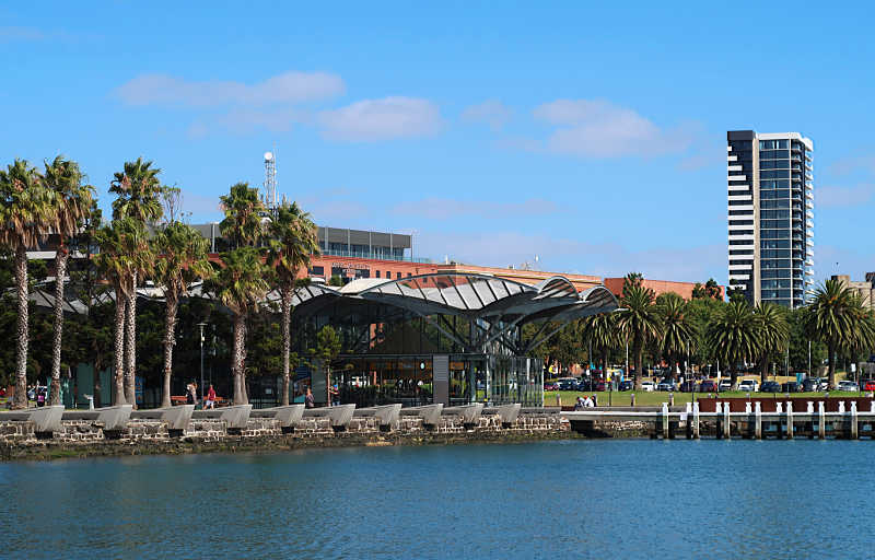 View of the Geelong carousel from Corio bay.