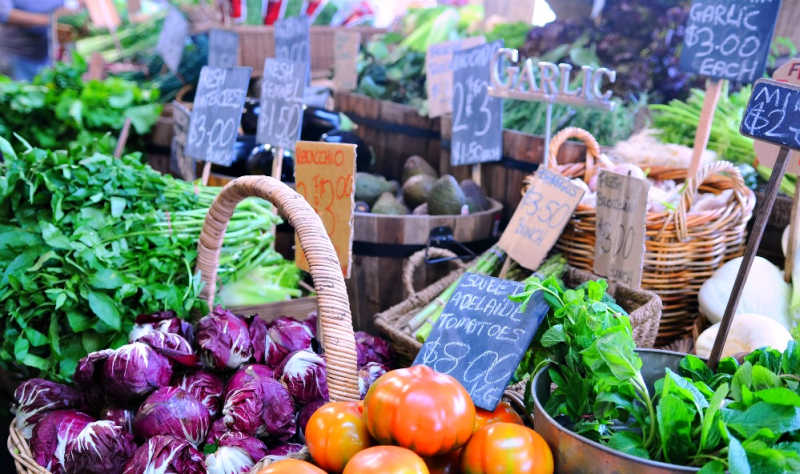 Colourful photo of Geelong market vegetables