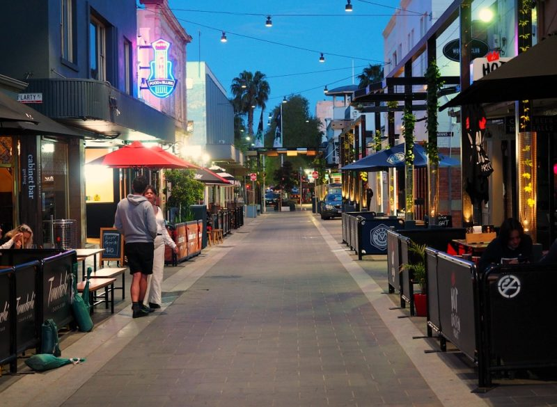 Geelong entertainment precinct Little Malop Street