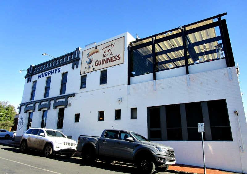 Street view of Murphys Geelong also known as Murphys Irish Pub