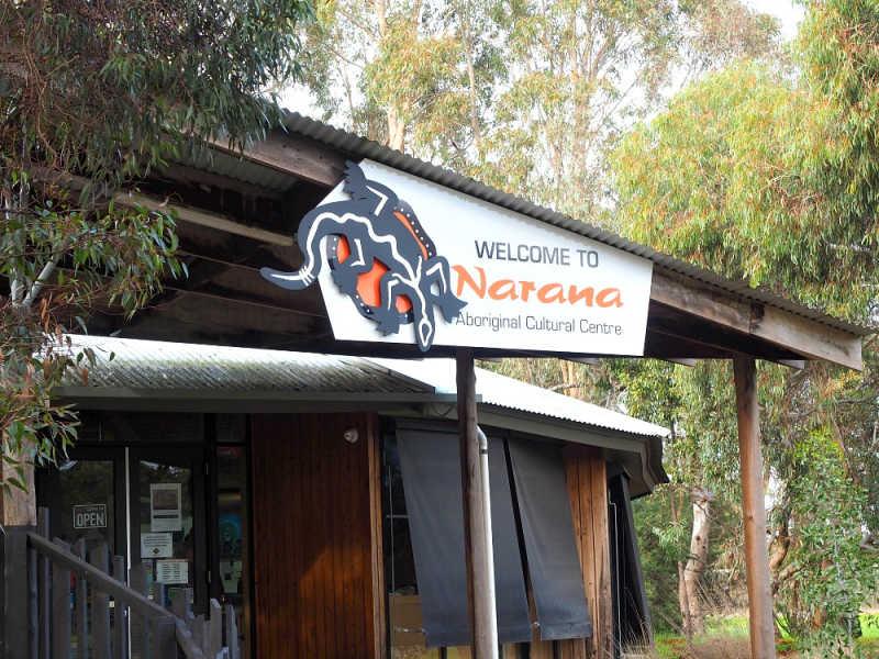 Entrance to Narana Aboriginal Cultural Centre.