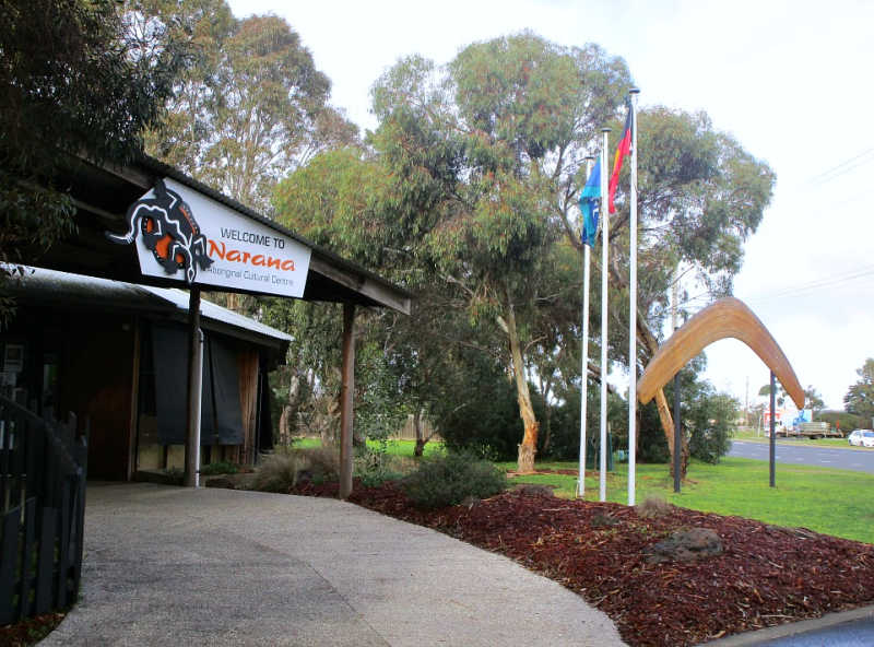 Entrance to Narana Aboriginal Cultural Centre Geelong.