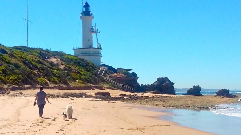 Point Lonsdale Lighthouse and back beach on the Bellarine Peninsula.