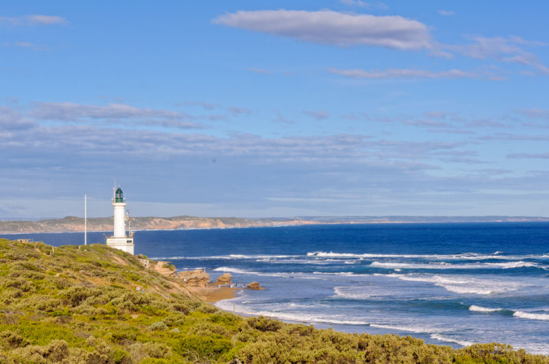 View of the ocean and Point Lonsdale lighthouse.