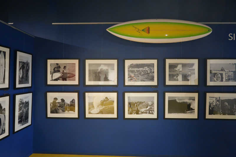Exhibition of old photographs at the Surf Museum Torquay.