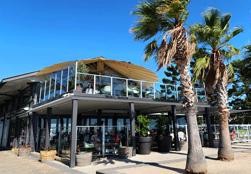 Picture of the Wharf Shed Cafe one of the fantastic Geelong Waterfront cafes.