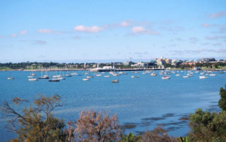 View of Corio Bay in Geelong.