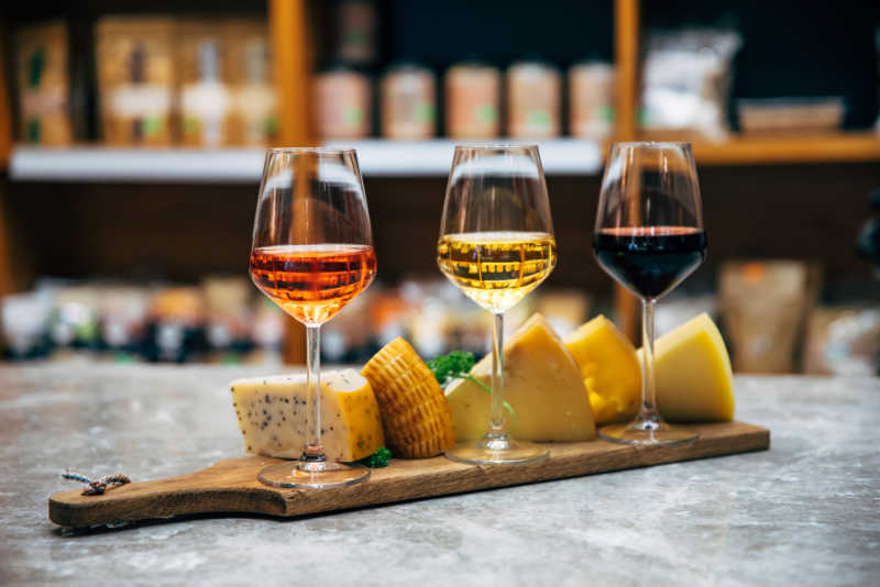 Wine and cheese at Torquay wineries.