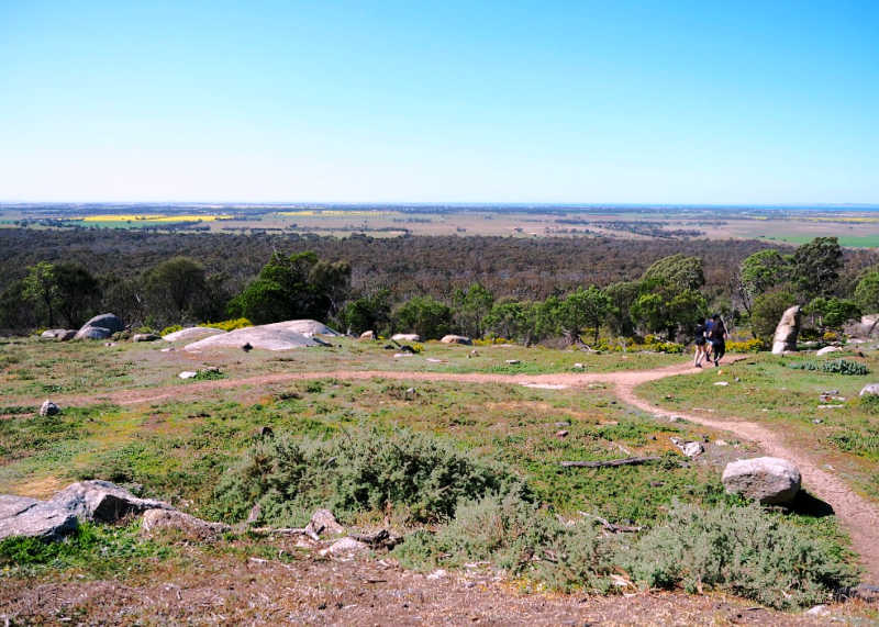 People hiking at the You Yangs Regional Park.